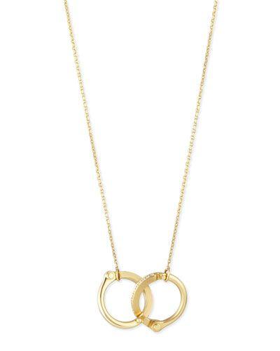 Borgioni Handcuff Chain Necklace in Rose Gold md7JQw