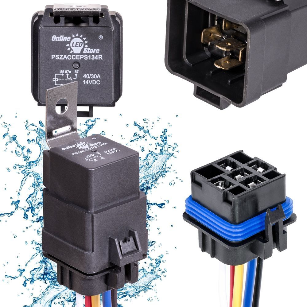 ICYMI OLS 40/30 Amp Waterproof Relay Switch Harness Set