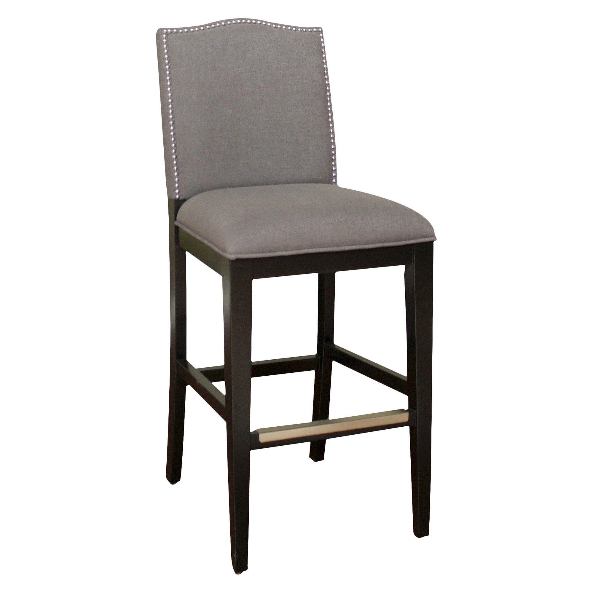 Outstanding 34 Chase Nailhead Trim Linen Barstool Hardwood Smoke Unemploymentrelief Wooden Chair Designs For Living Room Unemploymentrelieforg