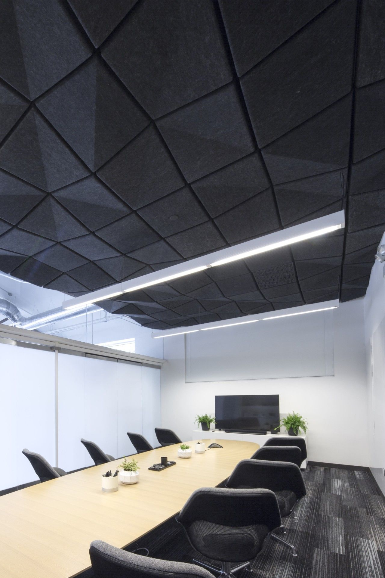 Crease A Range Of Modular Acoustic Ceiling Tiles By Turf Design