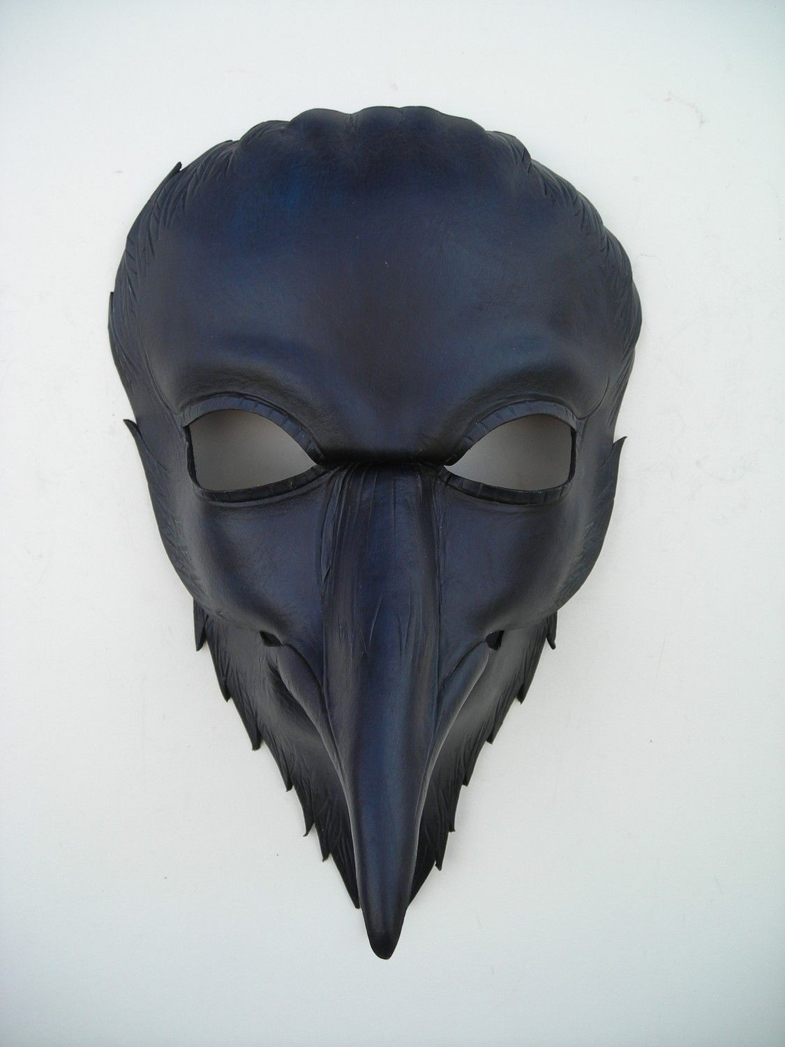 Raven mask/original handmade leather mask Halloween masquerade ...