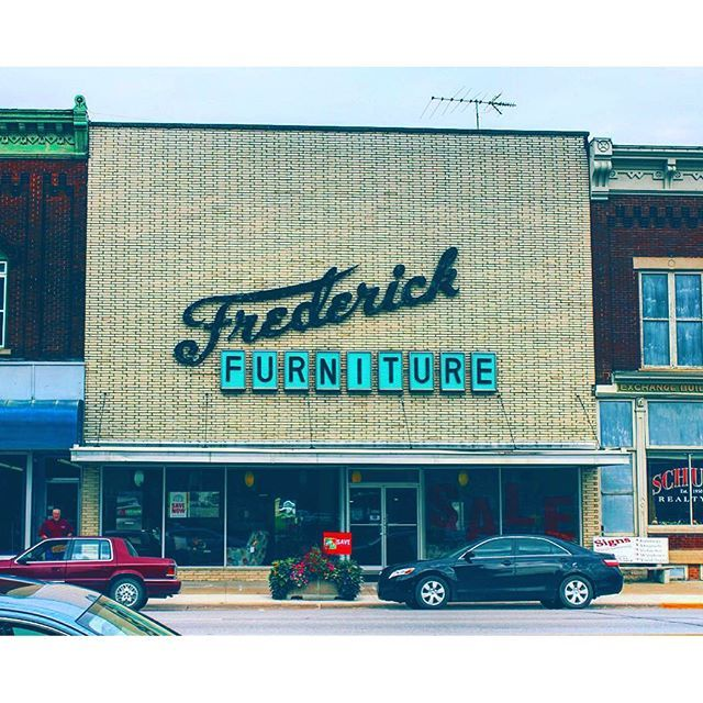 Via Architectureiniow Instagram Frederick Furniture In Grundy Center Ia Has Been Apart Of The Downtown Since 1936 This Fr