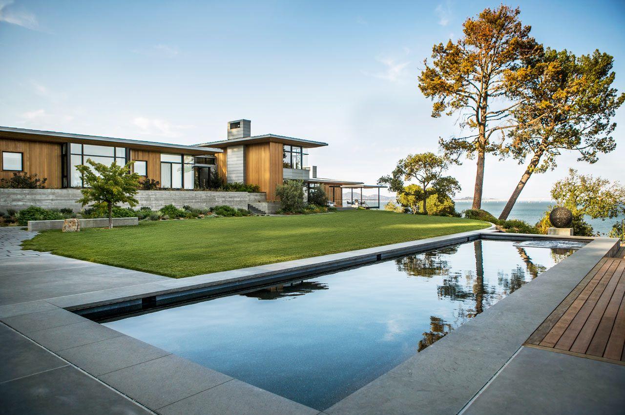 A Modern Residence Overlooking The San Francisco Bay By Walker Warner Architects Dengan Gambar