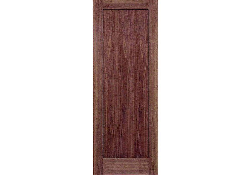 80 Closet Doors Wv6001p 80 Walnut 1 Panel Shaker Interior Door