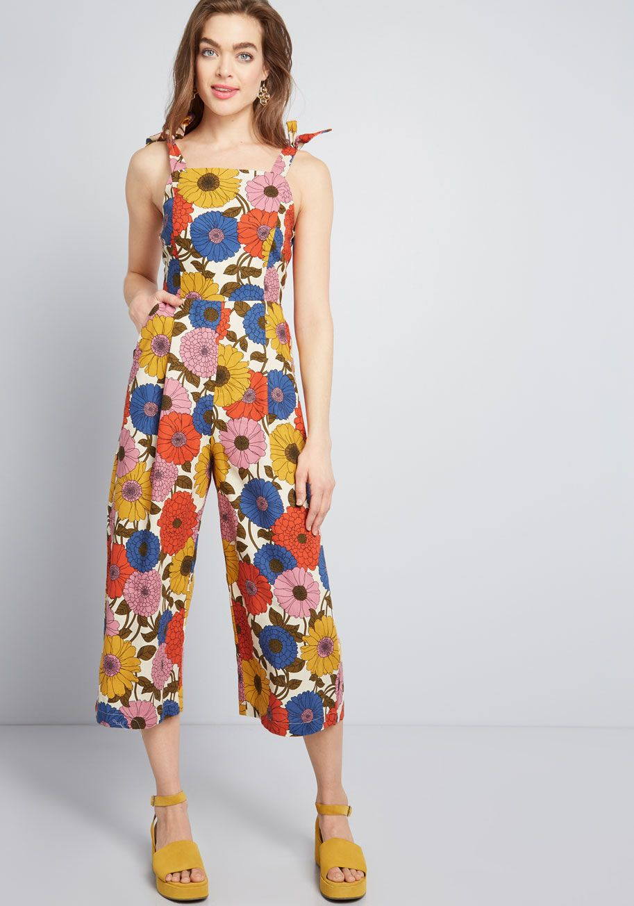 0532dc722524 Say It Playfully Linen Jumpsuit - Fashion should be fun from your POV