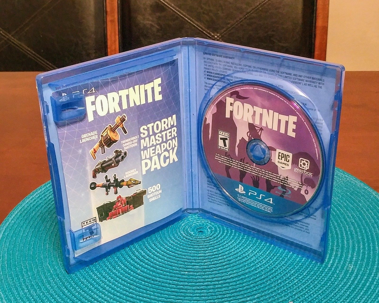 Rare Fortnite Original Disc Ps4 Playstation Insert Fast Free