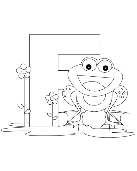 Letter F Coloring Page Alphabet Coloring Pages Abc Coloring Pages Alphabet Coloring