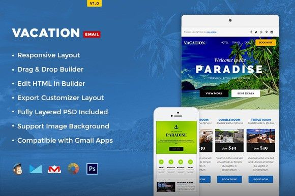 Vacation - Hotel/Travel E-Newsletter