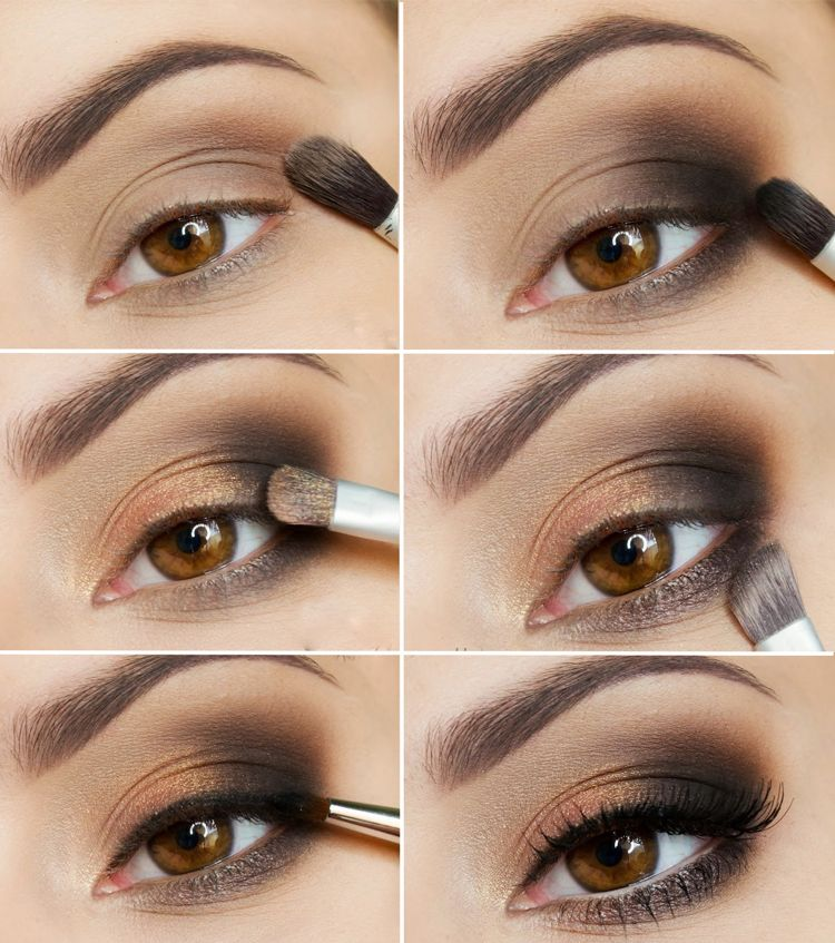 smokey eyes schminken für anfänger Anleitung mit Bildern #