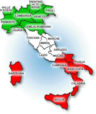 Cartina Italia Le Regioni.Cartina Italia 3 Colori Learning Italian Italy Map Best Of Italy
