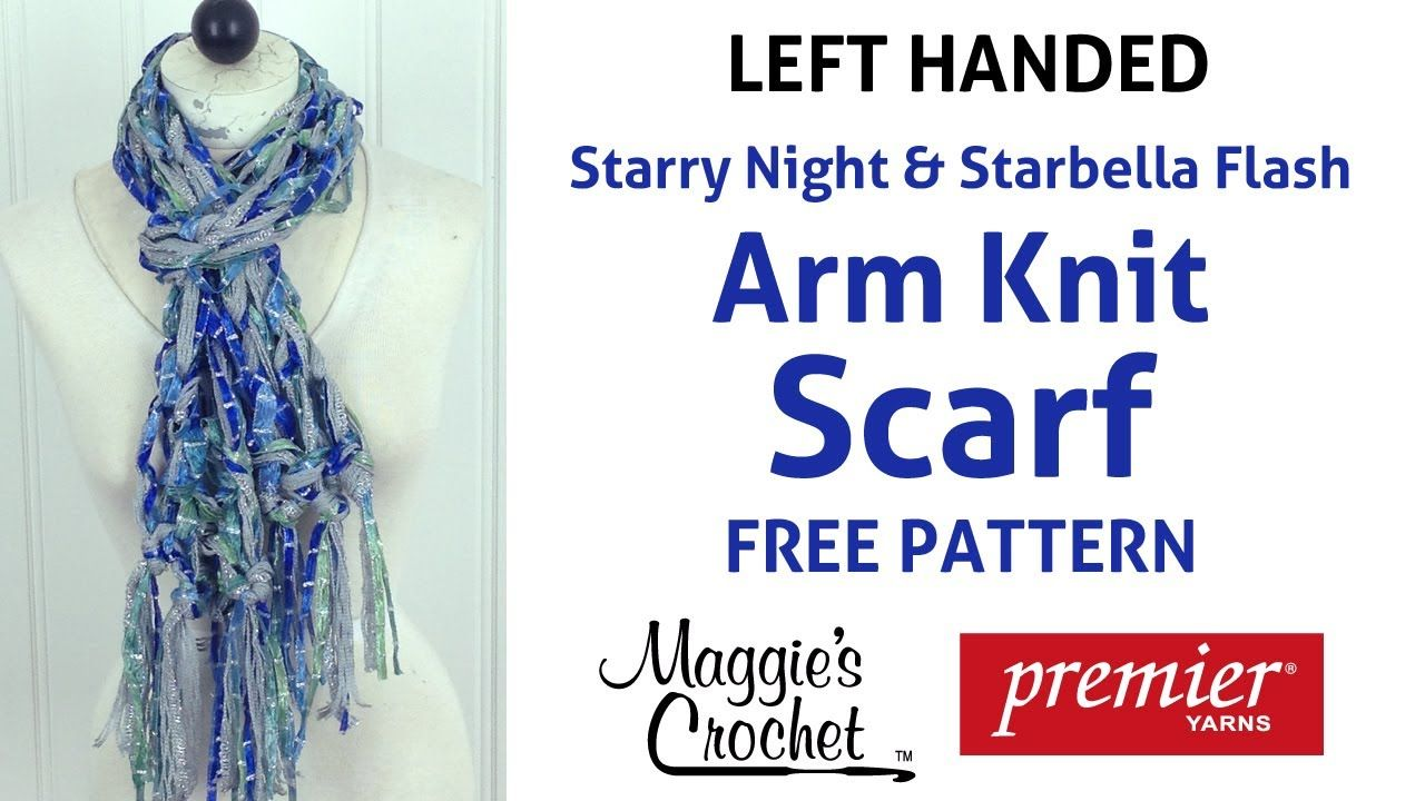 Arm Knit Starbella Flash & Starry Night Ribbon Yarn Blue Fringed ...