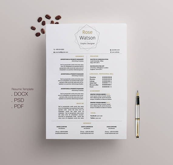 Office Simple-CV / Resume Template / Cover Letter Template - sample application cover letter template