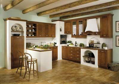 Cucina con forno ad angolo incassato nella muratura | Cucina and ...