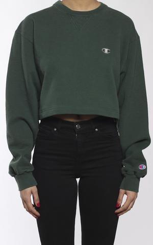 bda65d583244 Vintage Champion Crop Sweatshirt