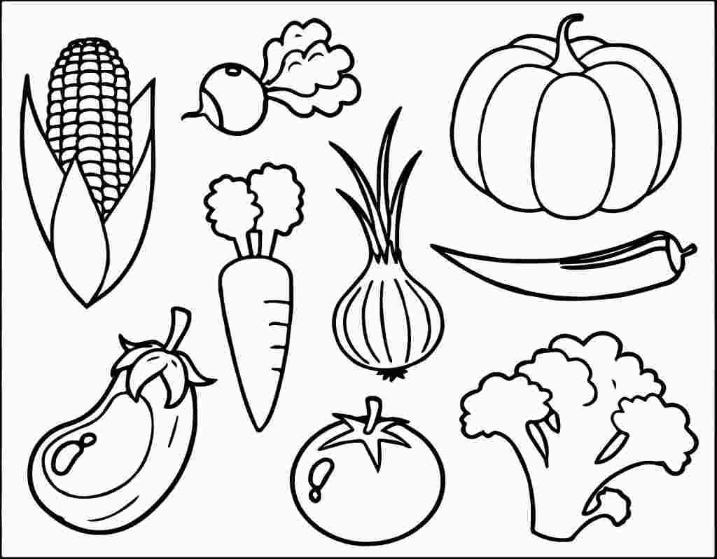Coloring Sheet Coloring Fruits And Vegetables Worksheets