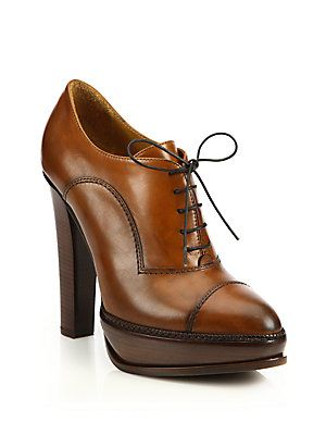 85118d875253 Ralph Lauren Temple Leather Oxford Platform Booties. Ralph Lauren Temple  Leather Oxford Platform Booties Oxford Platform