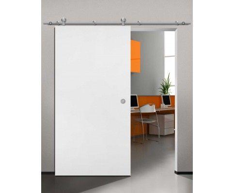 Slick Ii Wooden Sliding Door Kit Satin Stainless Steel Doors Interior Modern Modern Interior Decor Wooden Sliding Doors
