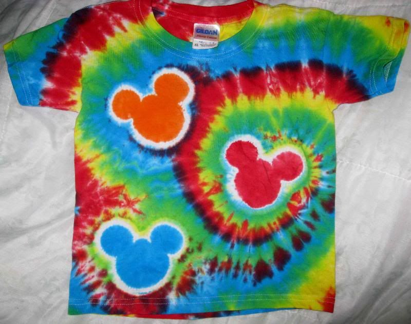 Tie Dye Instructions For Spiral Mickey Shirt Page 182 The Dis