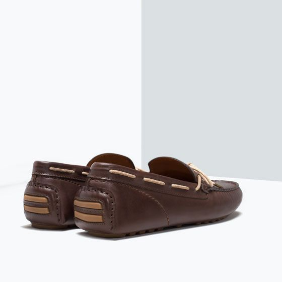 ZARA - MAN - LEATHER DRIVING SHOES WITH BOW