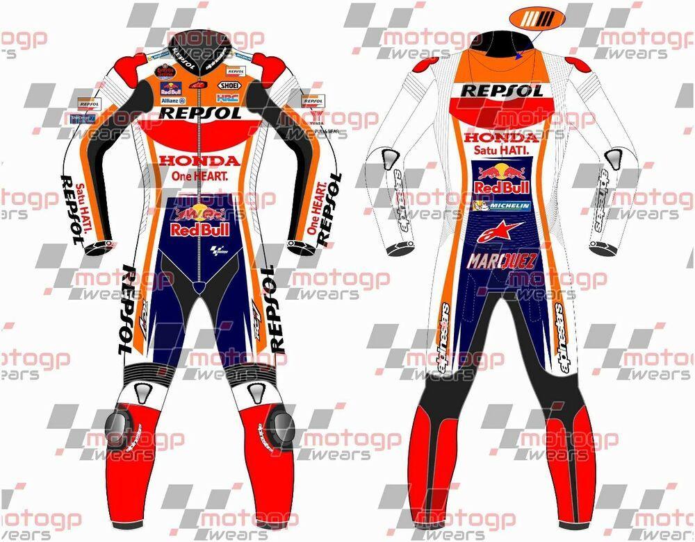 Repsol-Honda Motorbike Racing Leather Gloves Motorbike Riders Racing Gloves Racing MotoGP-Large Size