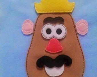 VENTA Señor patata addon cara set incluye 9 piezas fieltro mat juego educativo juego aprendizaje juguete ecológico fieltro juego #3846