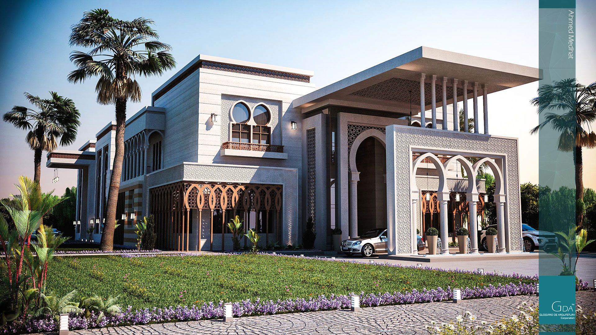 Palace designriyadh ksa design in and exterior for Modern style mansions