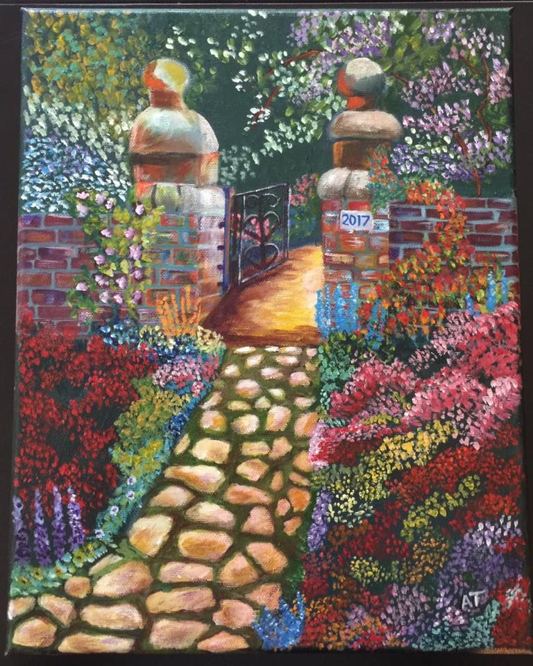 Anna painted Rose Garden Gate. Stunning painting. | 2017 Student Art ...