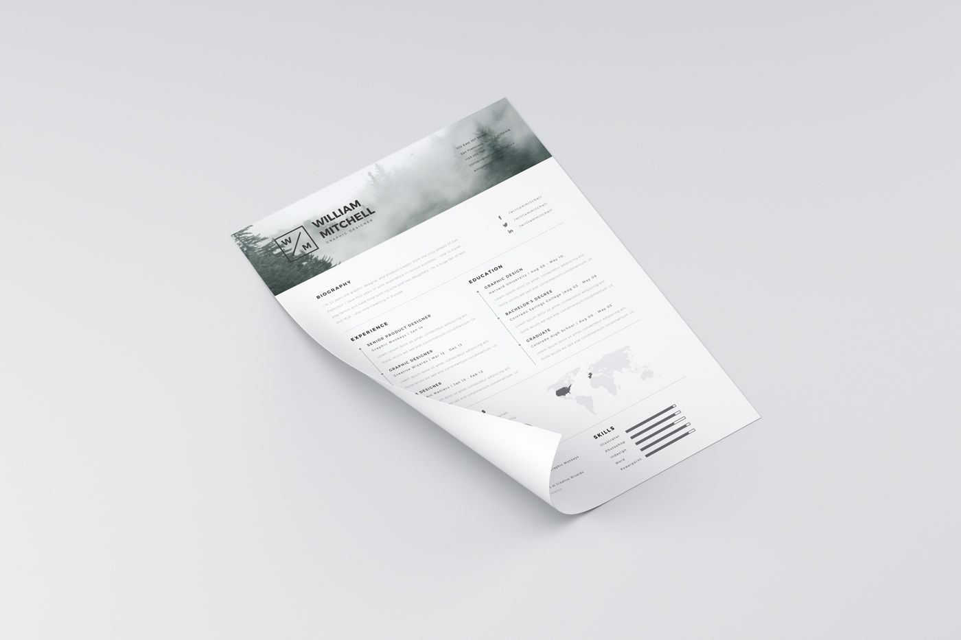 Free Resume Template In A Perfect Minimalistic