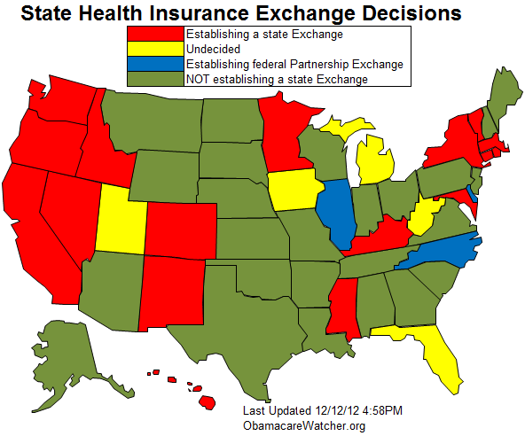 Status Of State Health Insurance Exchanges State Health