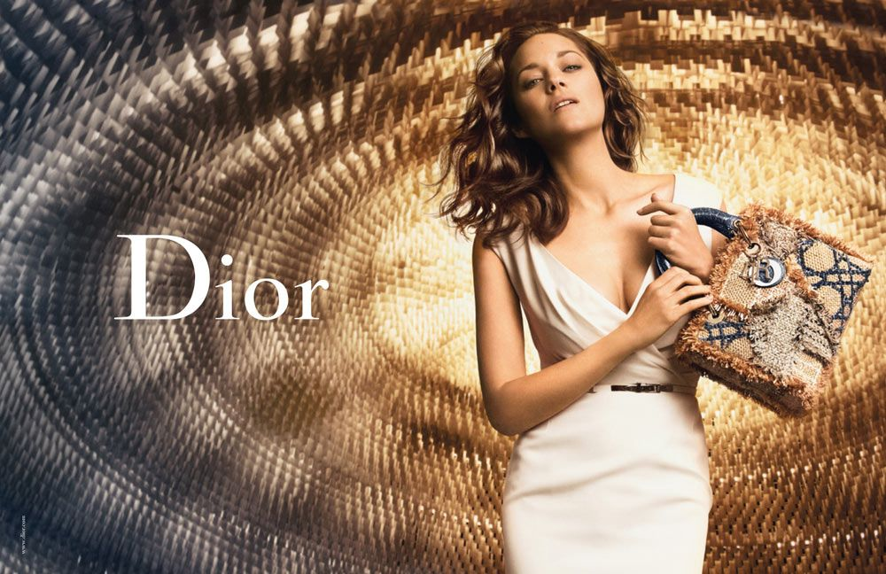 French actress Marion Cotillard shines in front of Peter Lindbergh's lens for the latest Lady Dior Spring 2012 campaign.
