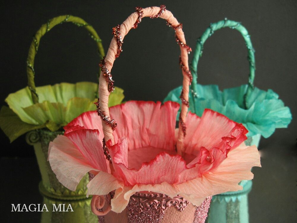 Magia Mia: Elegant Spring Easter Baskets from Peat Pots ...