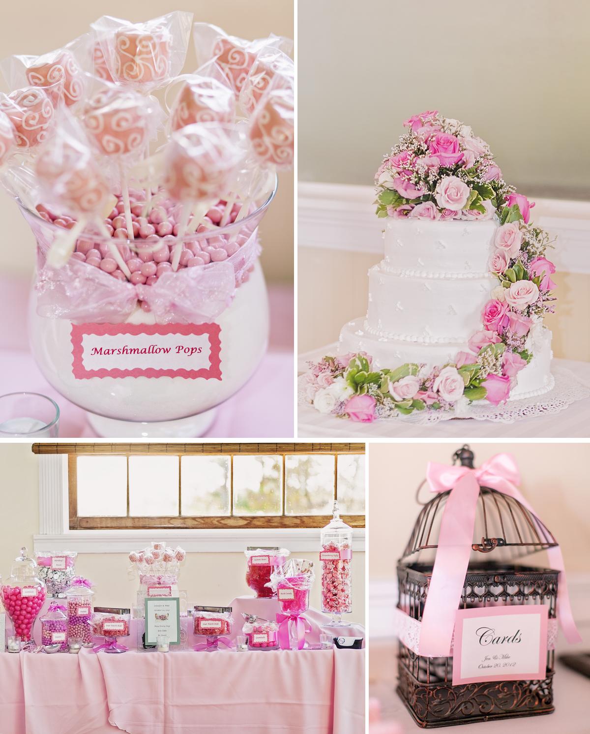 Candy Bar For Wedding Reception Romantic Pink Wedding Reception
