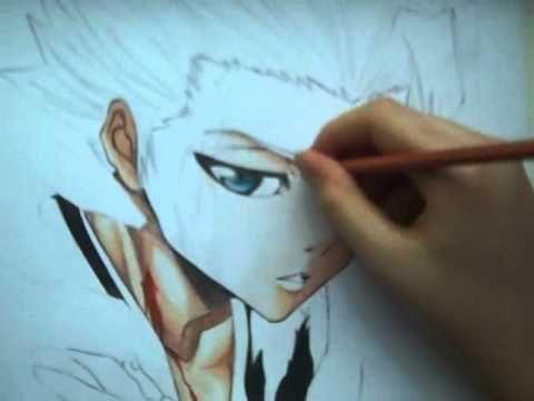 Drawing Toshiro Hitsugaya from Bleach - YouTube