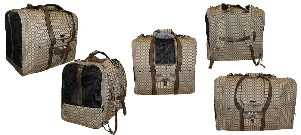 Great custom cat carrier from Celltei - Carrying a 36 lbs. Sha Pei in Style with an expandable carrier
