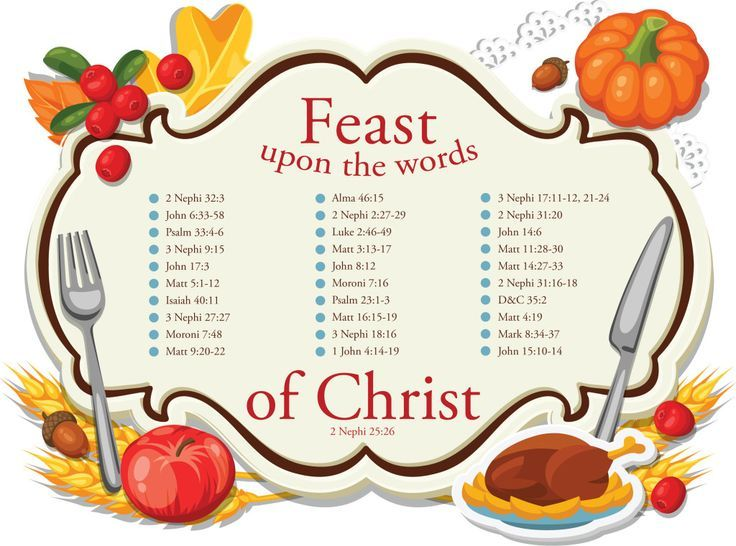 Cute for holiday scripture study 30 scripture passages about cute for holiday scripture study 30 scripture passages about christ feast upon the negle Images