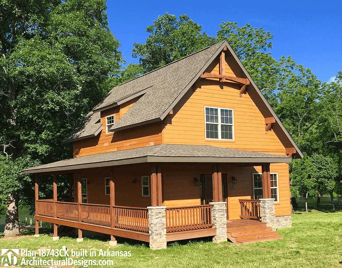 Small Rustic House Plan 18743ck Arkansas Small Rustic House Rustic House Plans Rustic House