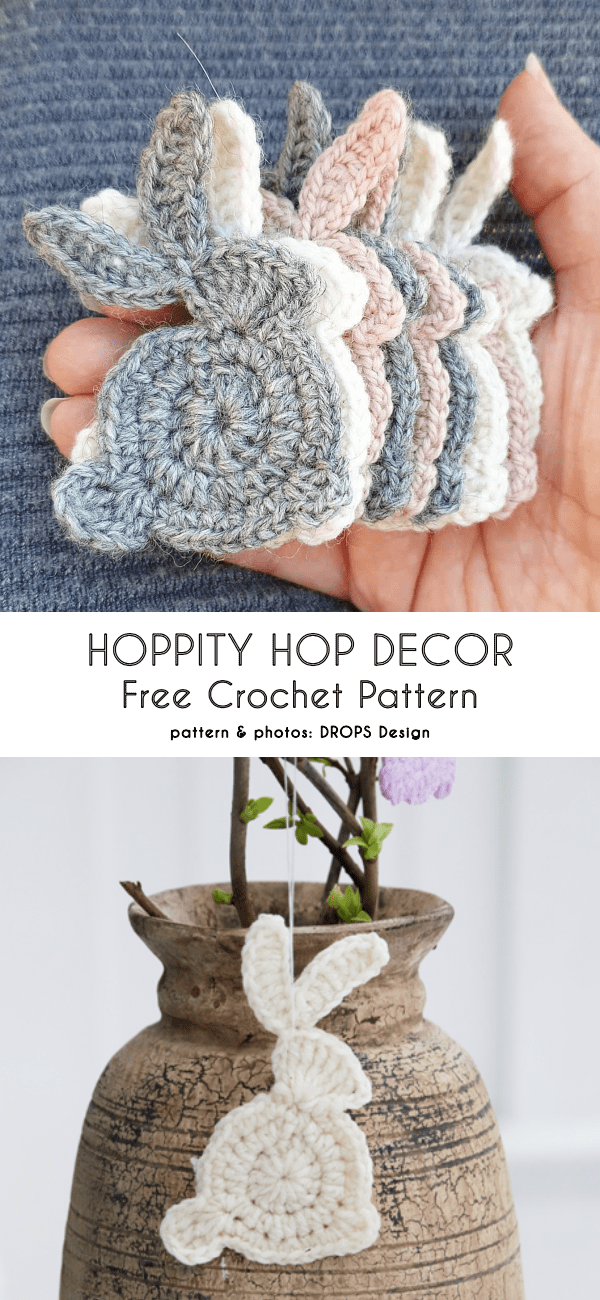 Quick Bunny Applique Free Crochet Patterns – Häkeltante