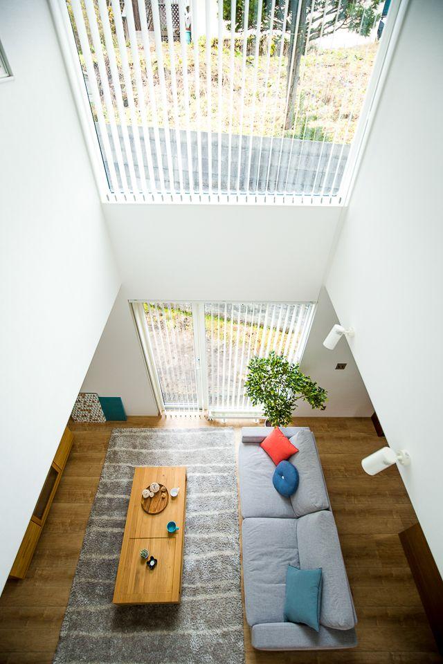 吹き抜けのあるナチュラルレトロな家 施工事例 札幌の新築住宅
