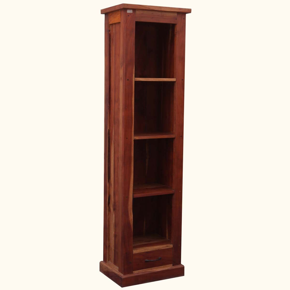 "Mission Solid #Hardwood 4-Shelf 69"" Tower Open Cabinet #Bookcase #interiors #contemporaryfurniture #homedecor #furniture #homeinspiration   http://www.sierralivingconcepts.com/"