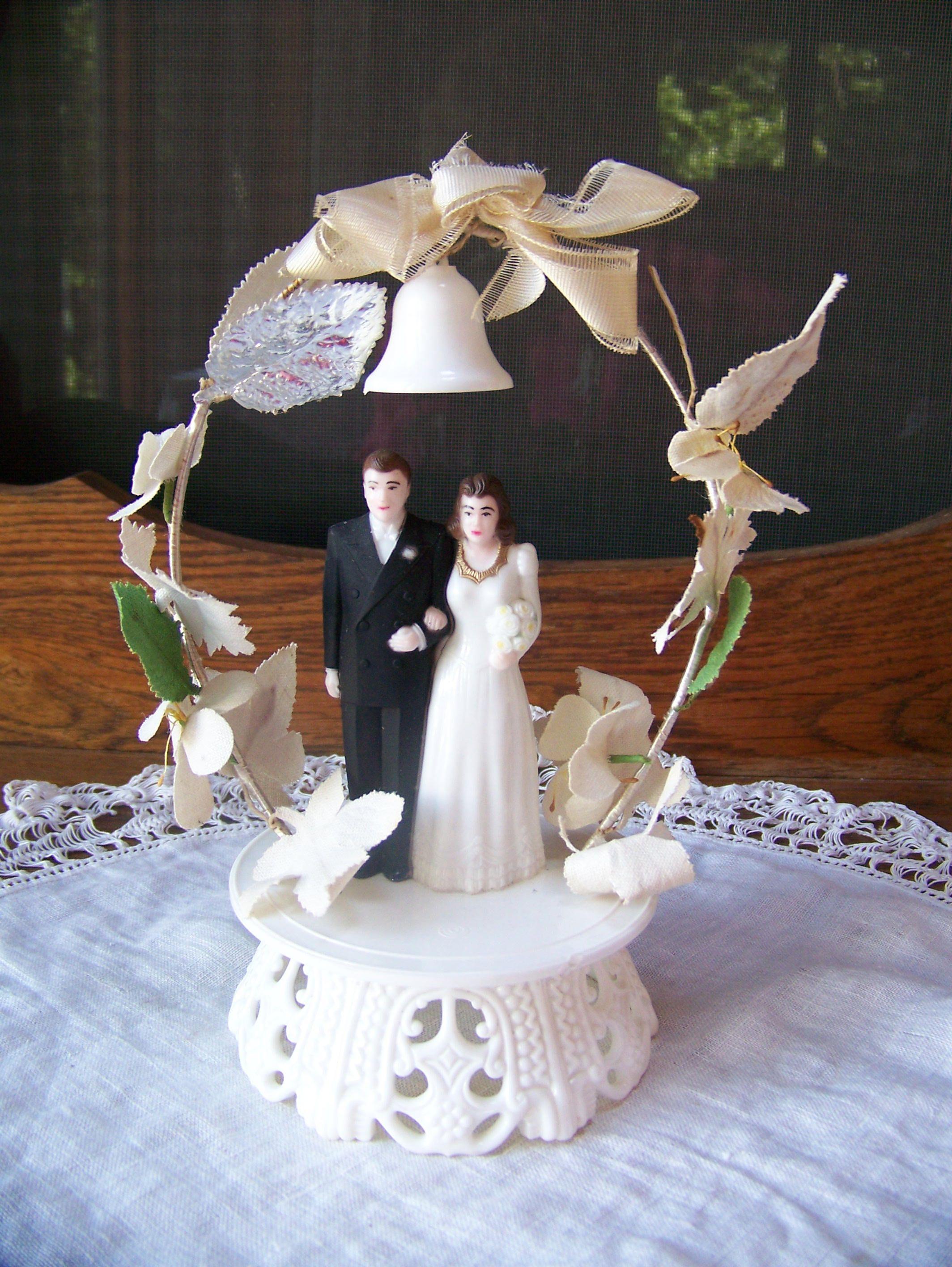 Vintage Wedding Cake Topper 1940 S Or 50 S Vintage Wedding Decor
