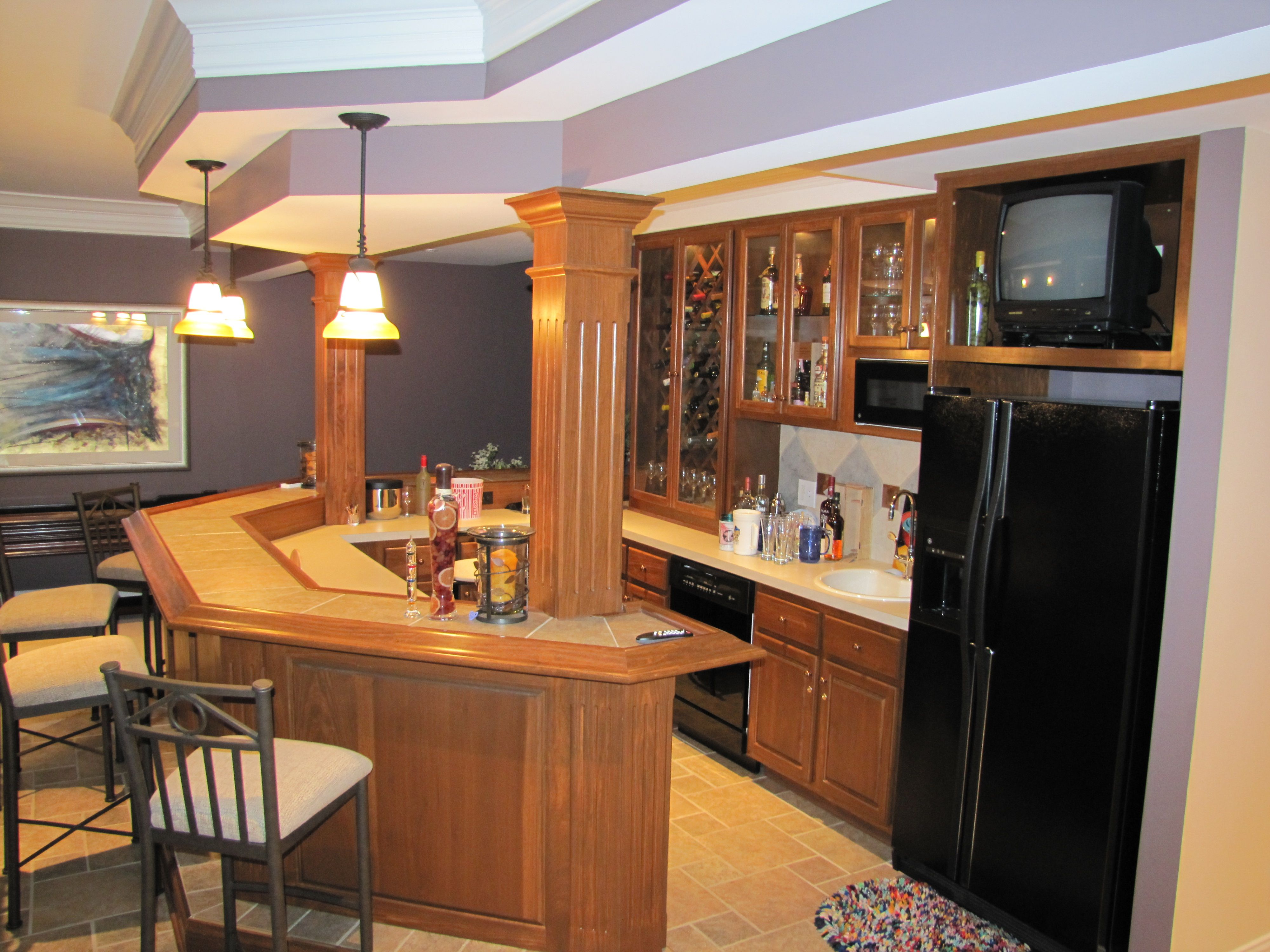 finished basement bar. Finished basement bar  Vincent Abell Contracting Pinterest