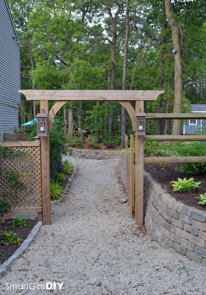 I want this entrance for our side yard on the tall side of ... on Side Yard Pergola Ideas id=54164