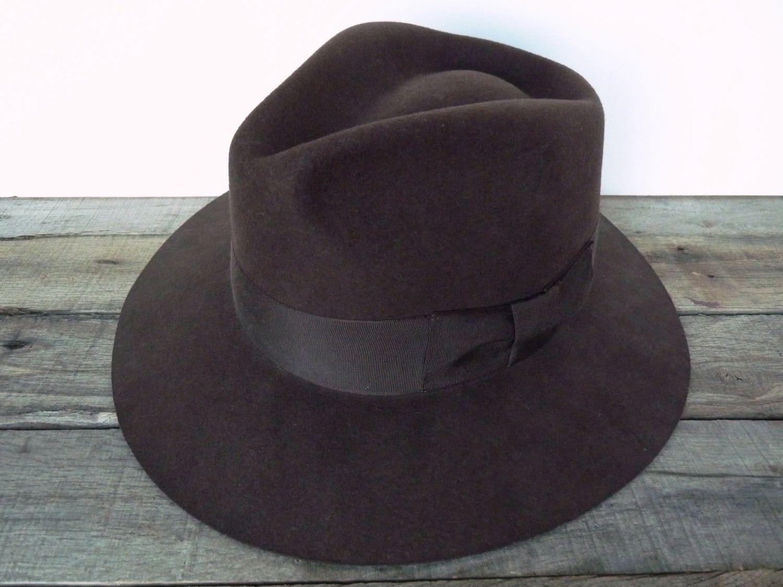 47d222f609696 Vintage Country Gentleman Hat   Fedora   Brown   Wool   Indiana ...