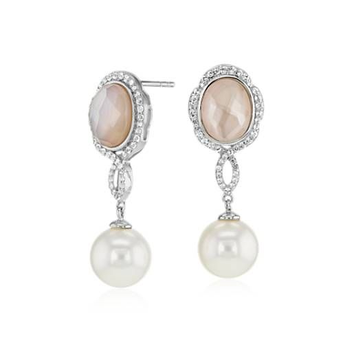 Blue Nile Freshwater Cultured Pearl Drop Earrings in 14k Yellow Gold (9-10mm)