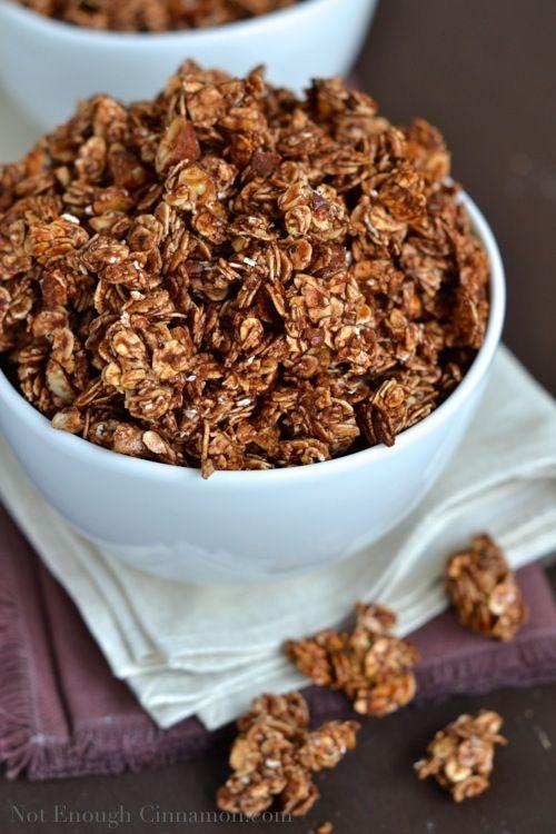 Chocolate Granola With Sweetened Condensed Milk Not Enough Cinnamon Recipe Chocolate Granola Granola Granola Recipes