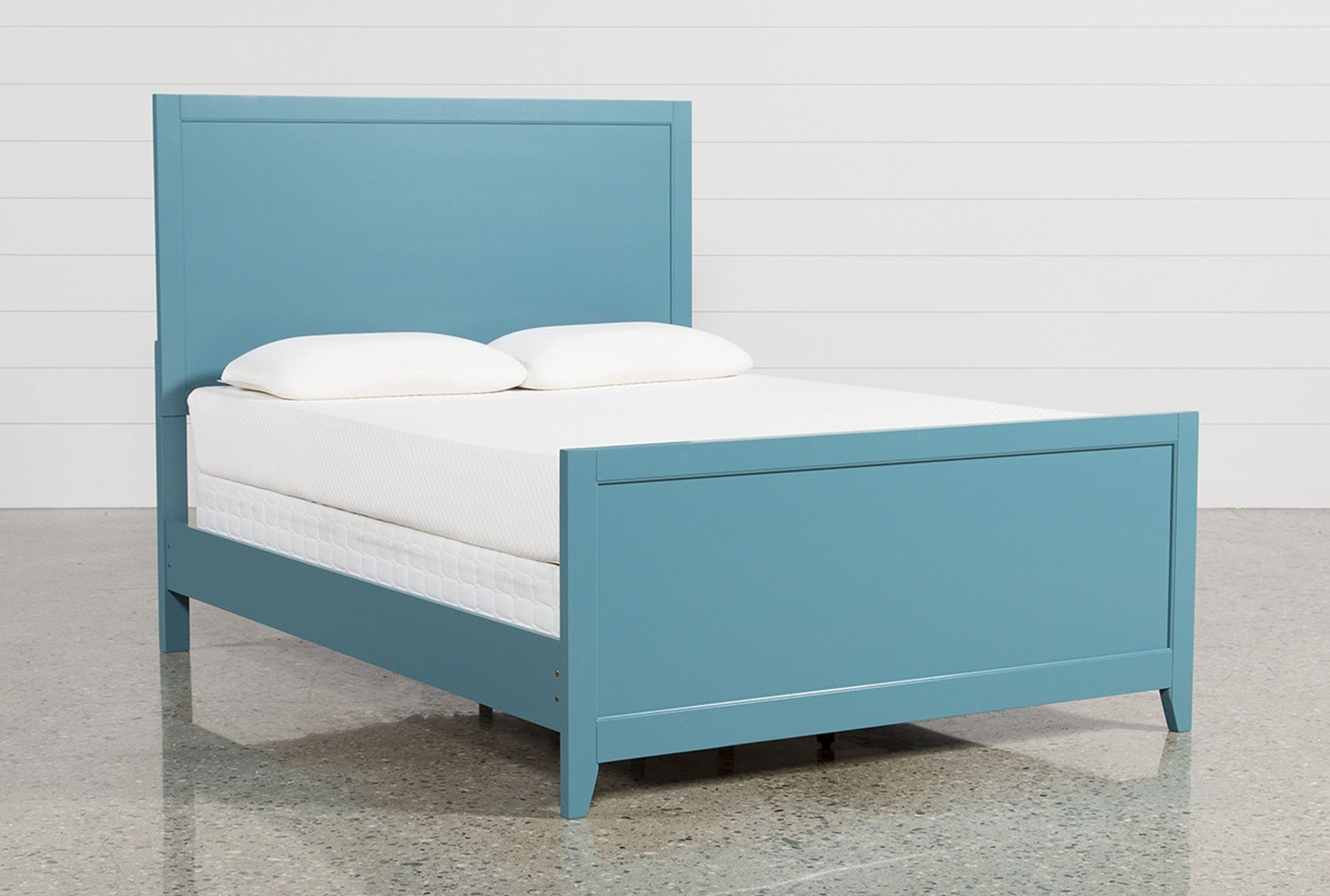 Bayside Blue Eastern King Panel Bed Queen panel beds