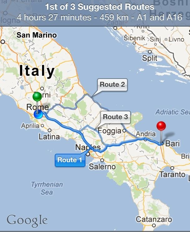 How To Get From Rome to Bari Bari Rome and Rome italy