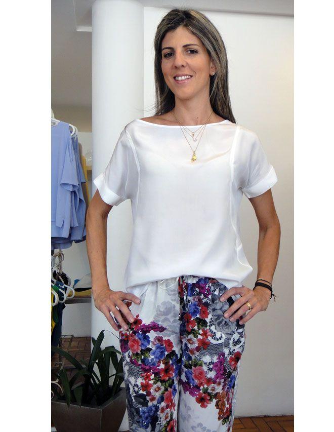 6706edc96c59 blusas de seda estampada - Buscar con Google …   costura de blusas ...