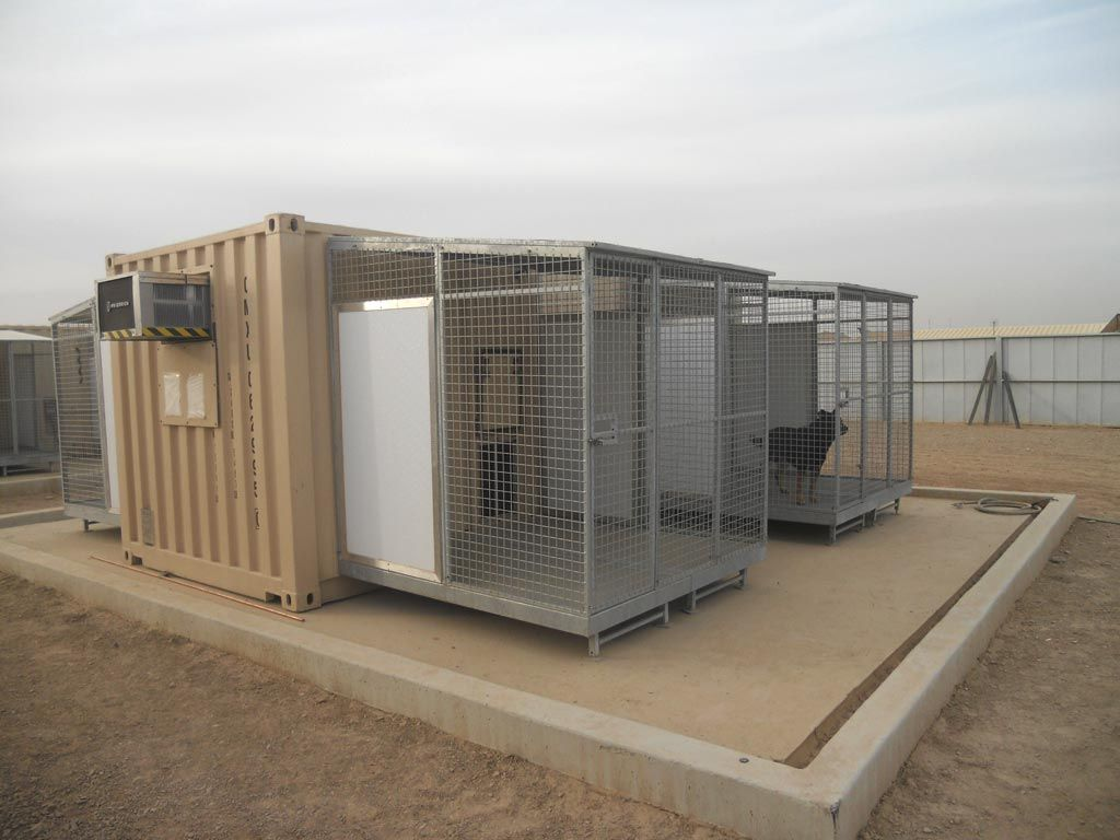 Containerized K9 Kennel  Kennel idea  Dog kennel designs