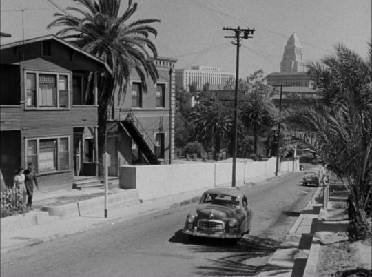 """Los Angeles as seen in """"Cry Danger"""" (1951)"""